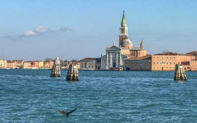 The 16th century benedictine church of San Giorgio Maggiore was designed by Andrea Palladio.