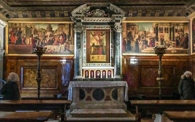 Venice-Carpaccio Frescoes.