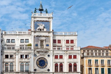 Venice-St Mark clock tower.