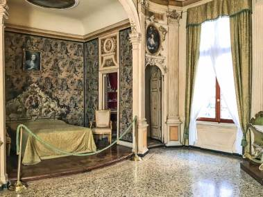 Ca' Rezzonico 18th century bedroom.