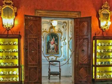 The Ca' Rezzonico Museum displays furnishings of the Venetian Golden Age.