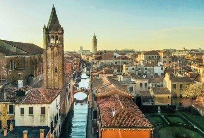 Vue of the Rio di San Barnaba from the Palazzo Ca' Rezzonico.