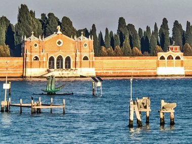 The cemetery island of San Michele.