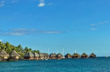 Papeete-overwater bungalows.