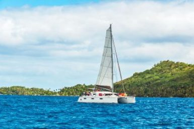 Society Islands - Catamaran.