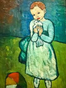 """Child with a Dove,"" Pablo Picasso, 1901 (Private Collection)."