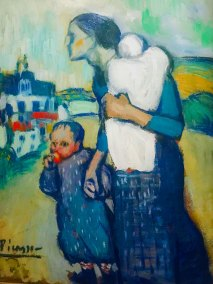 """Mother and Child,"" Pablo Picasso, 1901 (Saint Louis Art Museum, Saint Louis, Missouri.)"