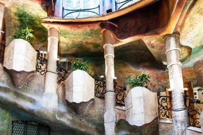 La Pedrera atrium staircase.