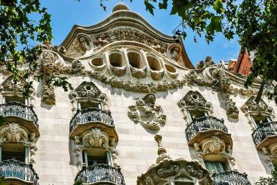 Walk-by masterpieces - Built 1898-1900, Casa Calvet is the most conventional of Gaudi's works. 48 Carrer de Casp. Metro Tetuan or Girona.