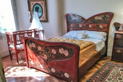 La Pedrera bedroom.