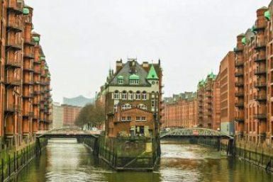 Hamburg-Warehouse Jugenstill.
