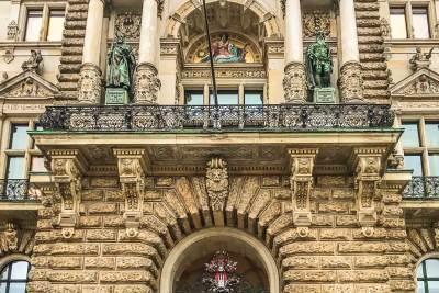 Hamburg-Rathaus Portal.