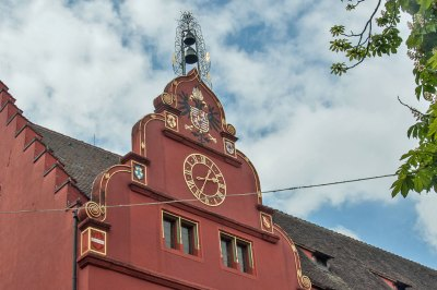 Freiburg-im-Breisgau - Architectural details: The Old Town Hall.