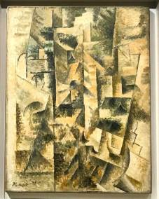 Landscape at Céret, Pablo Picasso, 1911. Cubist oil on canvas. (Guggenheim Museum, New York Solomon R. Guggenheim Founding Collection).