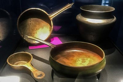 These Roman copper allow houshold goods date back to the 1st century BC.