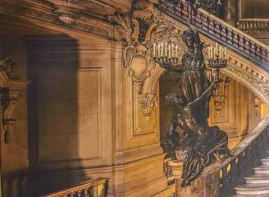 Trompe l'oeil reproduction of the of the grand foyer of the Palais Garnier opera.