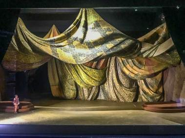 Stage set model for the ballet Raymonda, choregraphed and produced by Rudolf Nureyev.