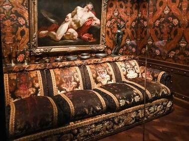 The exhbition includes a re-creation of Rudolf Nureyev 's personal living space.