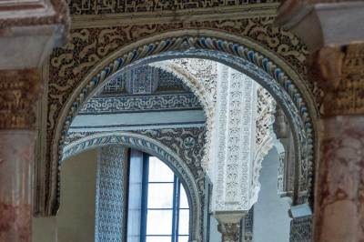 Details of Mudéjar craftsmanship at the Alcazàr palace (2).