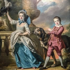Anna Maria Astley and her  brother Edward (1767. Francis Cotes, oil on canvas).