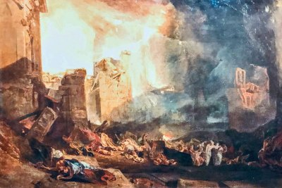The destruction of Sodome (1805. J.M.W. Turner. oil on canvas).