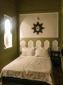 Dar Habiba rooms have a serene contemporary  Moroccan flair.