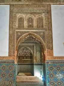 Saadian Tombs - View towards the tombs of Muhammad al-Sheikh and Lalla Mas'uda.