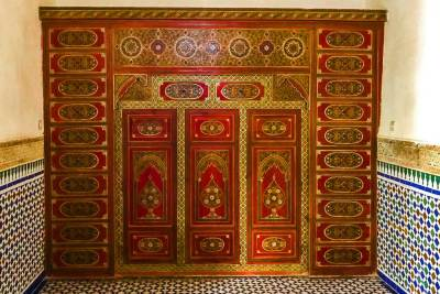 Museum of Moroccan Arts - painted paneling.