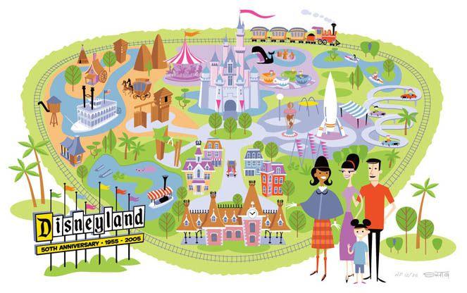 photo about Disneyland Printable Map identify Josh Agle Unauthorised » Disneyland Map Occasion