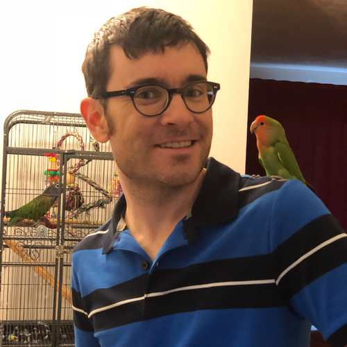 Josh and two birds