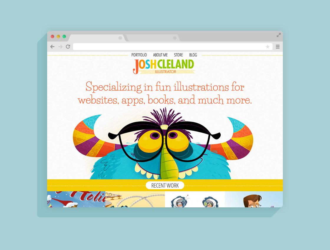 Josh Cleland website mockup