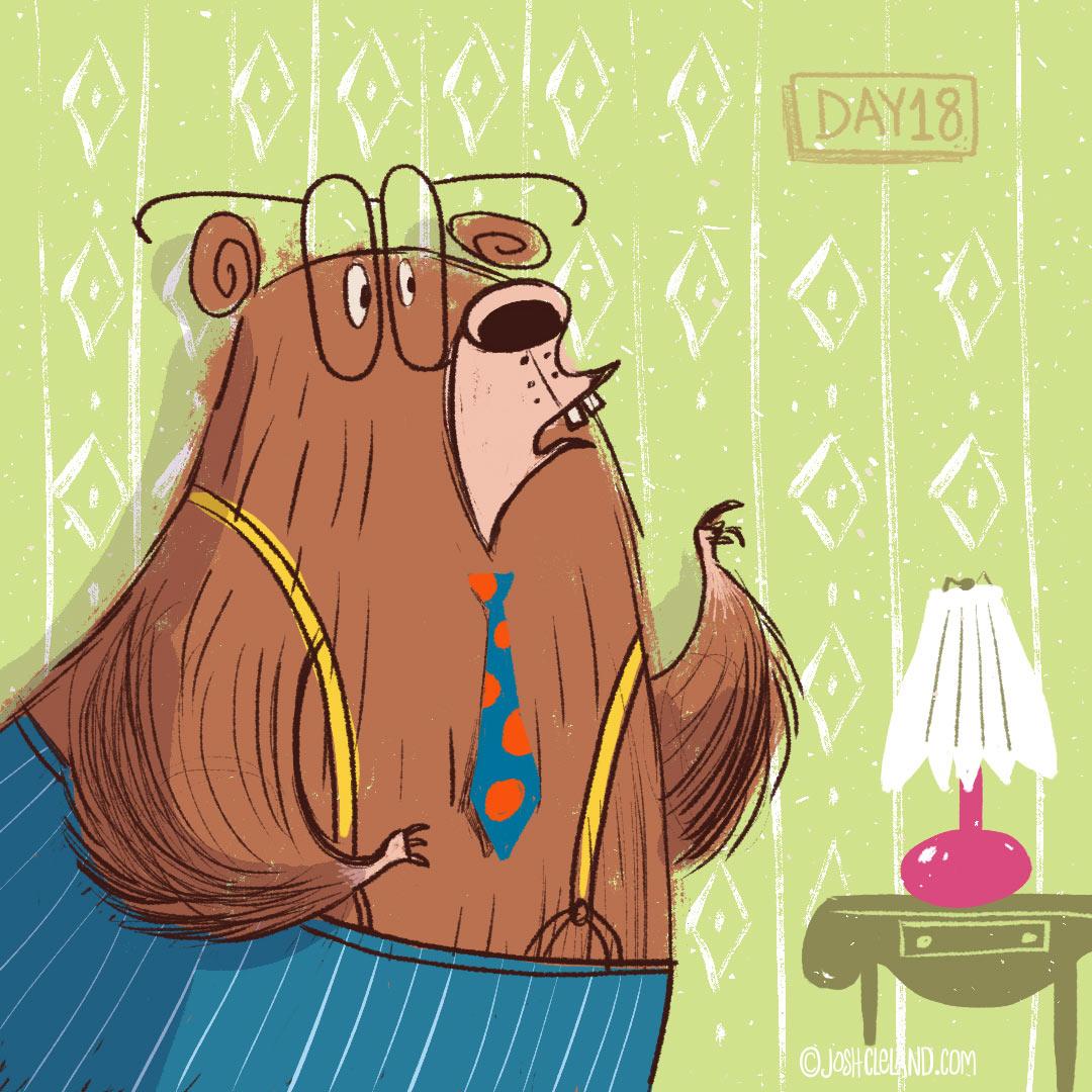 Papa Bear illustration by Josh Cleland