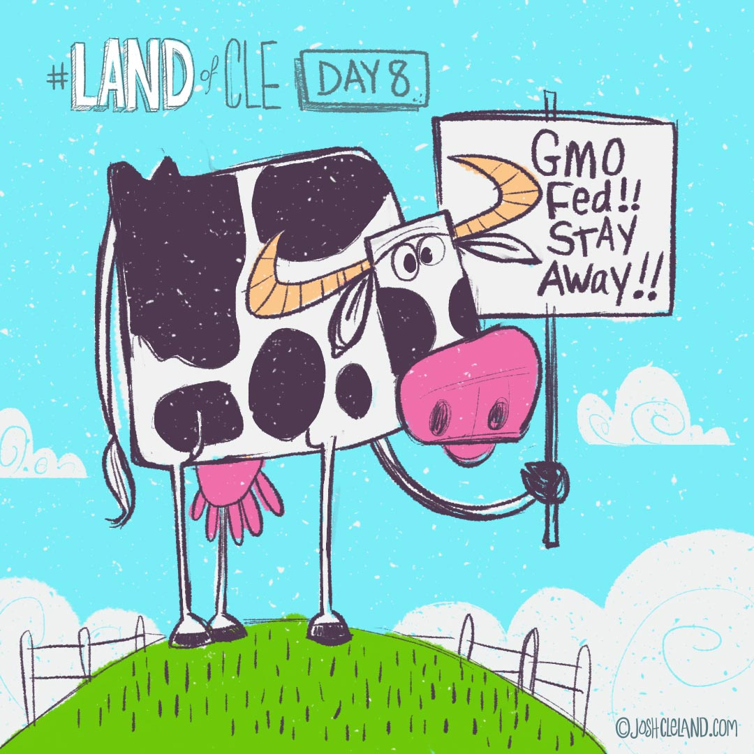 Land of Cle by Josh Cleland Cow
