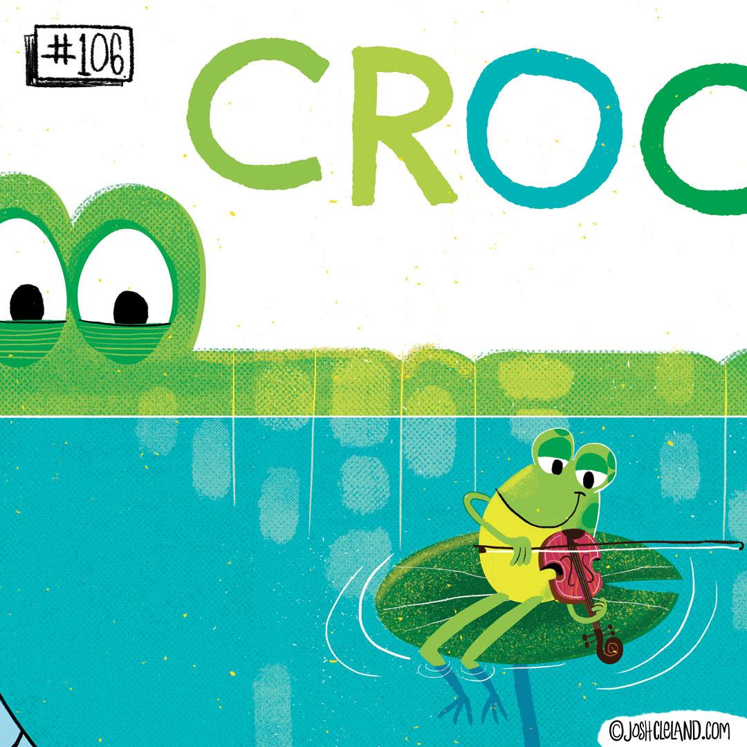 LAND of CLE by illustrator Josh Cleland Crocodile illustration