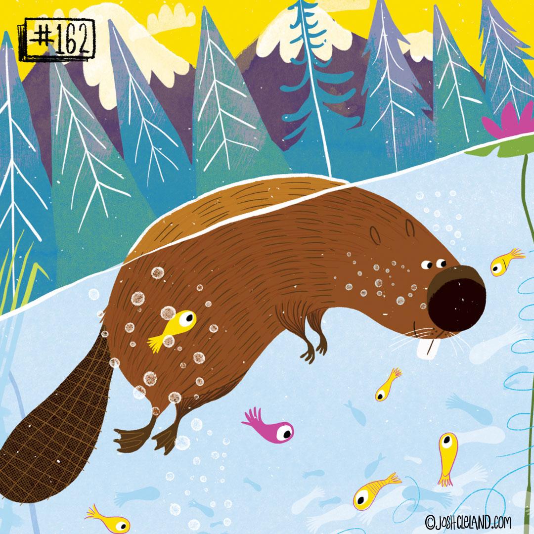 LAND of CLE by illustrator Josh Cleland beaver illustration