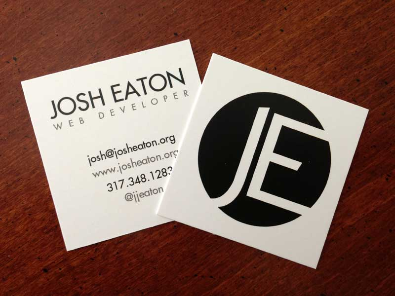 front and back of business cards
