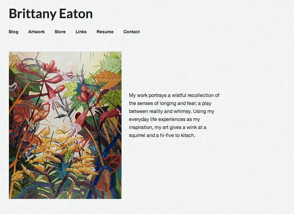 Brittany Eaton Artist Website Design and Development