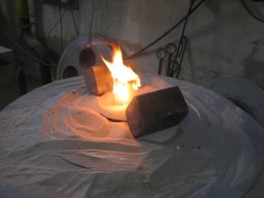 Bronze casting completeBronze casting complete