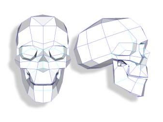 papercraft skull-1