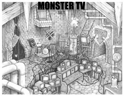 """Monster TV"" Concept Art (Astropolitan Pictures)"