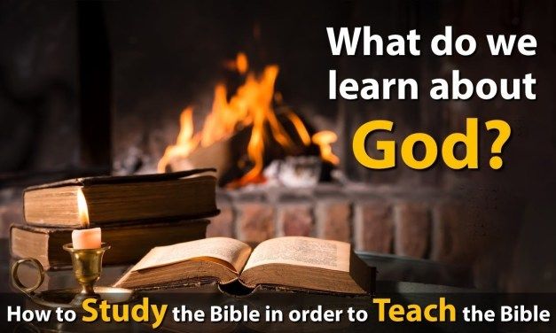 What do we learn about God?