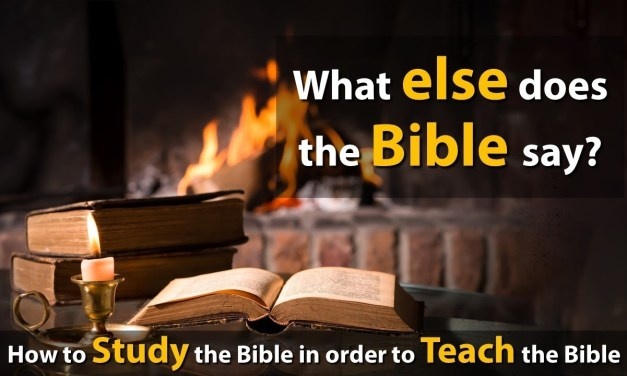 The Bible is an excellent commentary on the Bible