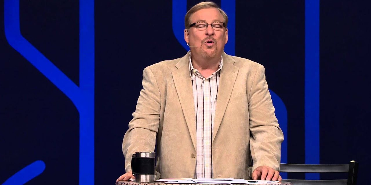 Rick Warren's advice to small group leaders