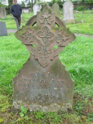 Headstone of John Sargeant at Church of St. Laurence at Brafield on the Green