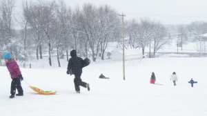 Kids having fun on Killer Hill.