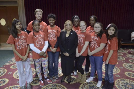 The Viper Bots with State Rep. Sharon Pace on the floor of the Missouri House of Representatives