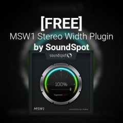 [Free] SoundSpot's new MSW1 Stereo Width Plugin