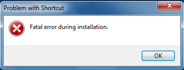 fatal-error-install-problem-with-shortcut