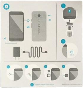 Nexus 5X instruction card