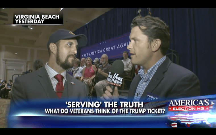 Pete Hegseth Interviews Joshua Macias at Mike Pence event